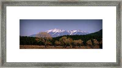 High Peaks Of Arizona Framed Print