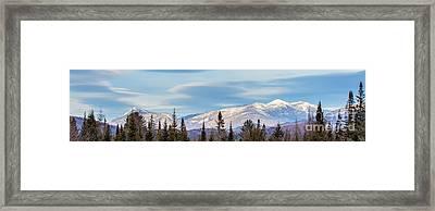 High Peaks Framed Print