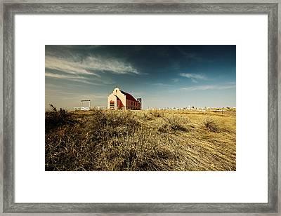 High Plains Church Framed Print by Todd Klassy