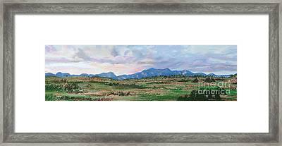 High Plains IIi Framed Print by Lucinda  Hansen