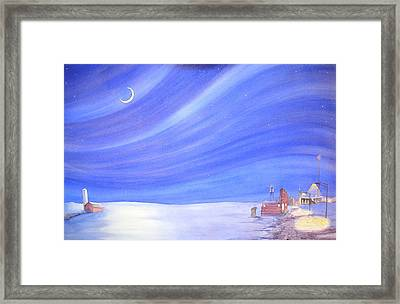 High Plains Nightscape Framed Print