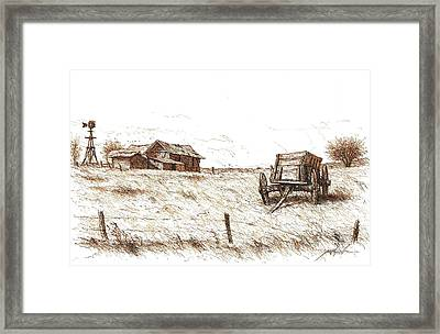 High Plains Quietude Framed Print by Larry Prestwich