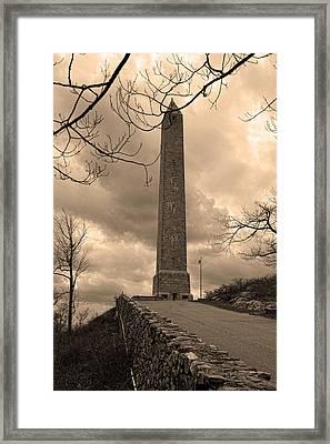 High Point Obelisk In Sepia  Framed Print