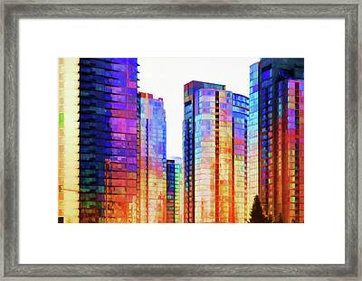High Rise Abstract Framed Print