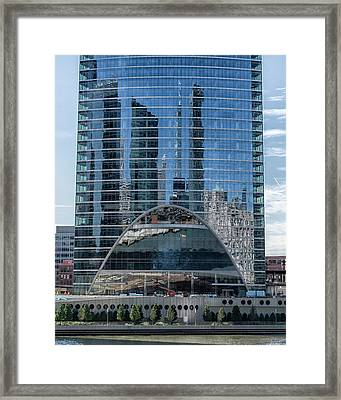 Framed Print featuring the photograph High Rise Reflections by Alan Toepfer