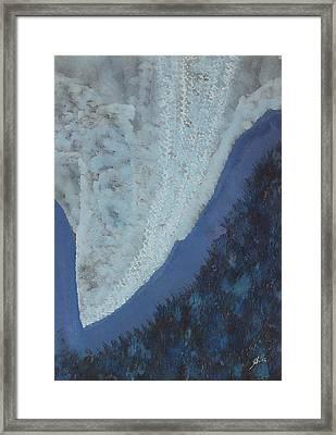 High Rockies Original Painting Framed Print by Sol Luckman
