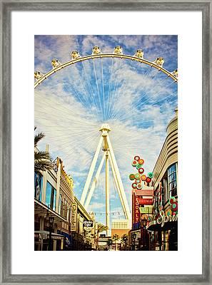 High Roller Wheel, Las Vegas Framed Print
