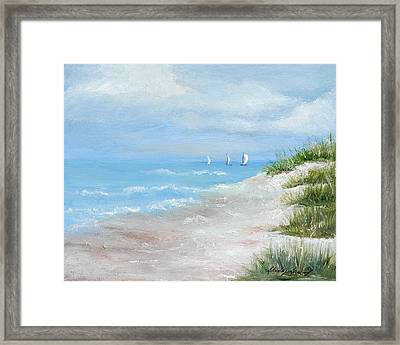 High Sails Framed Print by Shirley Lawing