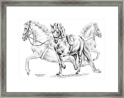 High School Dance - Lipizzan Horse Print Framed Print