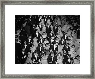 High School Prom, C.1950s Framed Print