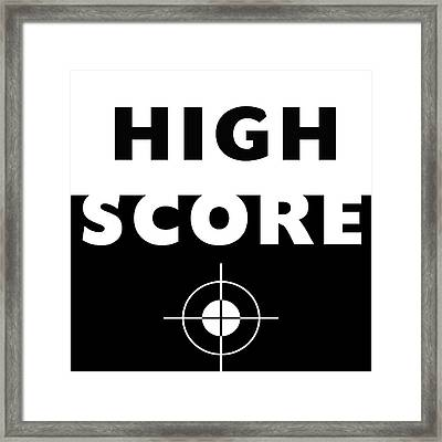Framed Print featuring the mixed media High Score- Art By Linda Woods by Linda Woods
