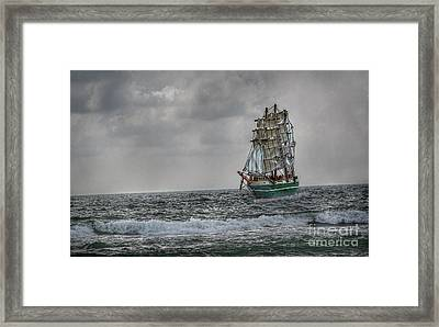 High Seas Sailing Ship Framed Print by Randy Steele