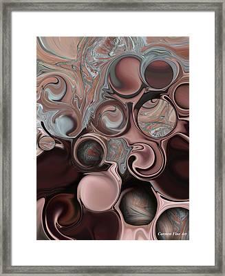 Framed Print featuring the digital art High Shape by Carmen Fine Art