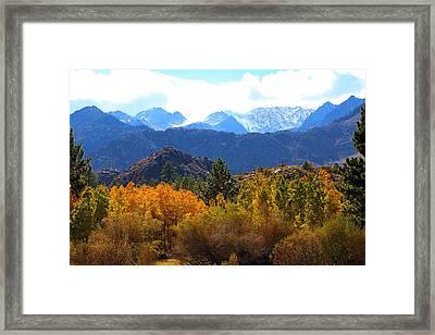High Sierra Fall Colors Framed Print