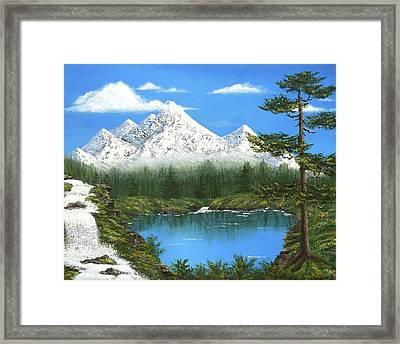 High Sierras Lake Framed Print