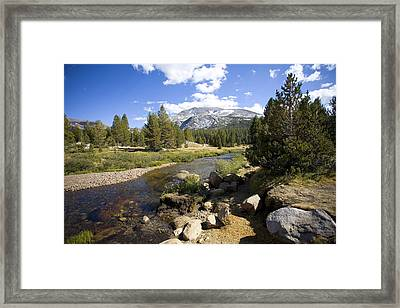 High Sierras Stream Framed Print