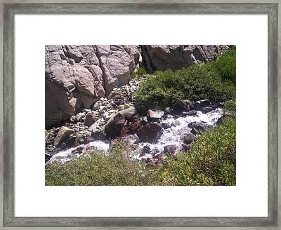 High Sierras Treasure Lakes Iv Framed Print by Sarah Stiles