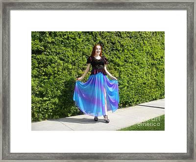 High-slit Skirt From Collection Ameynra 2017-alpha Framed Print by Sofia Metal Queen
