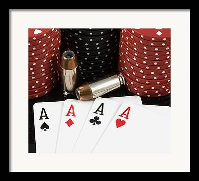Poker Chips Framed Prints