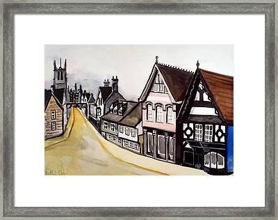 High Street Of Stamford In England Framed Print