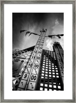High Striker In Black And White Framed Print