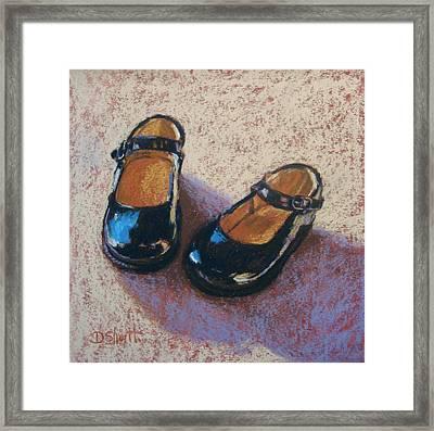 High Style Baby Girl Framed Print by Donna Shortt