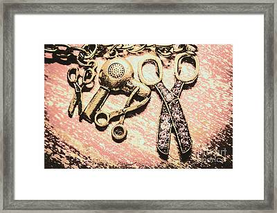 High Style Hairdresser Kit Framed Print
