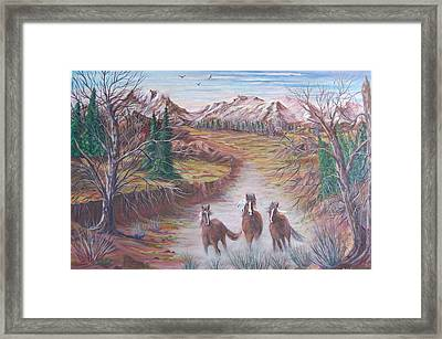 High Tailin It Framed Print by Janna Columbus