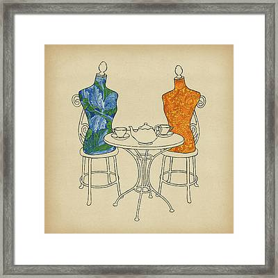 Framed Print featuring the painting High Tea by Meg Shearer