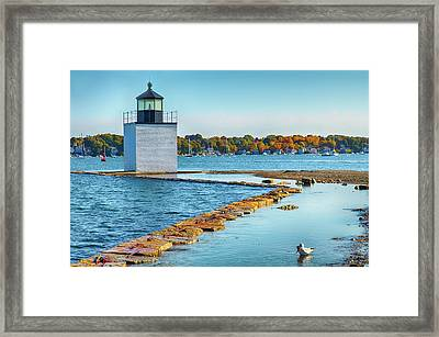 Framed Print featuring the photograph High Tide At Derby Wharf In Salem by Jeff Folger