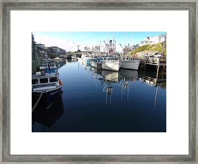 High Tide At Hall's Harbour Framed Print