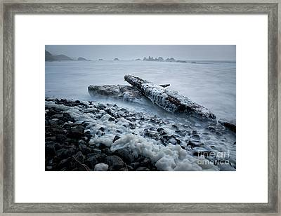 high tide at Seal Rock State Park  Framed Print by Masako Metz
