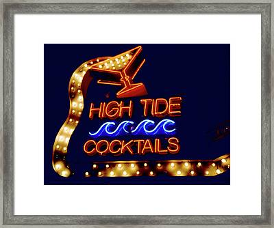 Framed Print featuring the photograph High Tide Cocktails by Matthew Bamberg