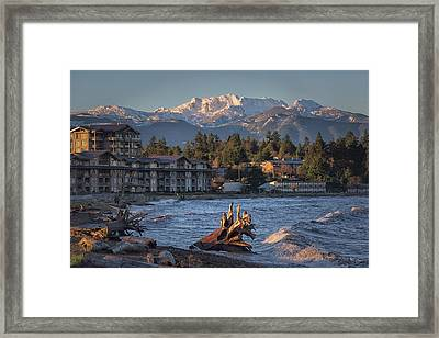 High Tide In The Bay Framed Print