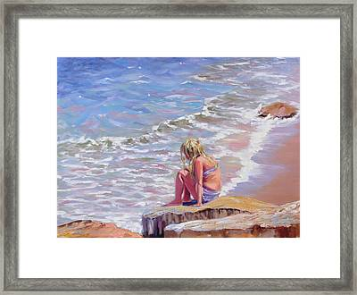 High Tide Framed Print by Laura Lee Zanghetti