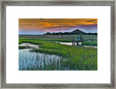 High Tide On The Creek - Mt. Pleasant Sc Framed Print