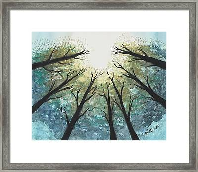 High Trees Framed Print by Edwin Alverio