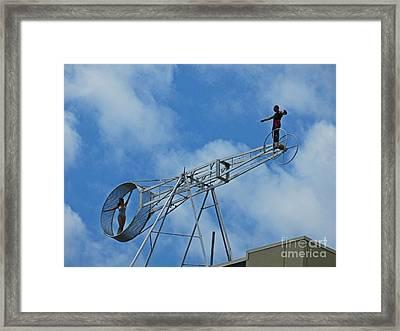 High Up Framed Print