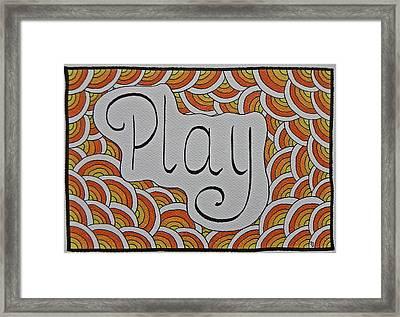 High Vibes Alphabet - Play Framed Print