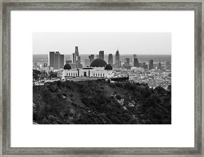 High View Of Griffith Observatory And La Framed Print by John McGraw