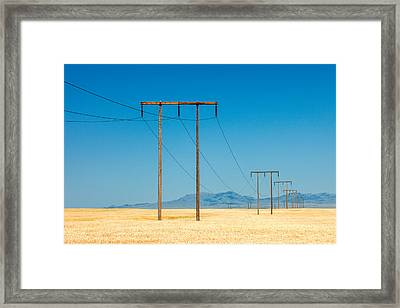 High Voltage Framed Print by Todd Klassy