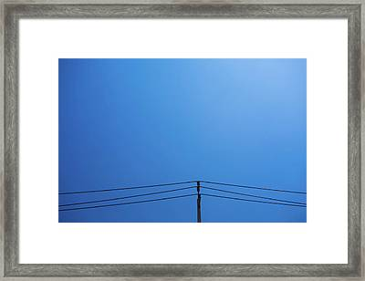 High Voltage Power, Electric Pose Framed Print