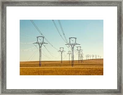 High Voltage Power Lines Framed Print