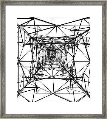 High Voltage Power Mast Framed Print by Yali Shi