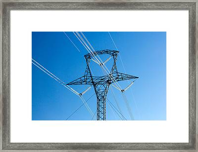 High Voltage Tower Framed Print by Todd Klassy