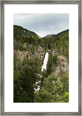 Framed Print featuring the photograph High Water At Fish Creek Falls by Daniel Hebard