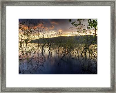 High Water Sunset Framed Print