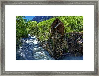 High Waters At The Mill  Framed Print