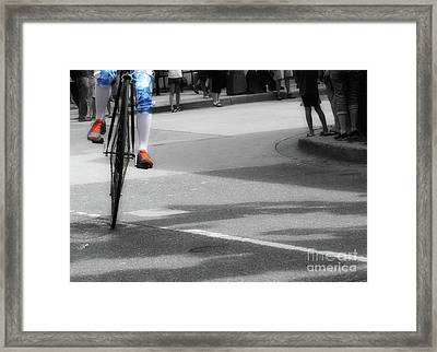 High Wheel Shoes  Framed Print by Steven Digman