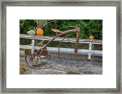 High Wheel Tricycle Framed Print